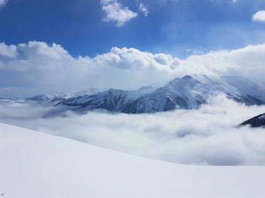 Zillertal April 2018 Bergsicht