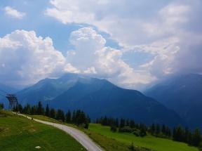Bergsicht im Zillertal, Österreich