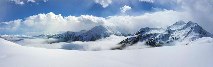 Panorama Berge, Zillertal, Österreich